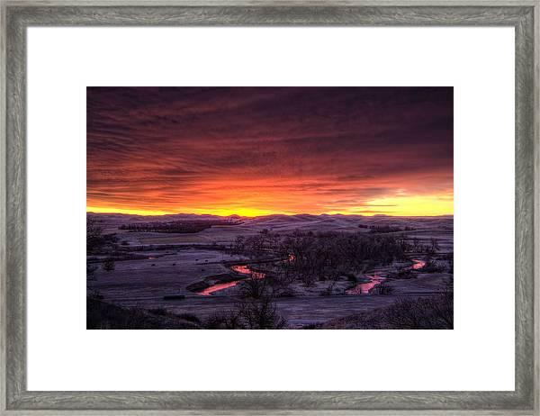 Redwater Framed Print