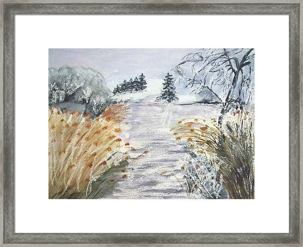 Reeds On The Riverbank No.2 Framed Print