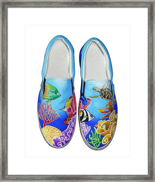 Reef Walkers Framed Print