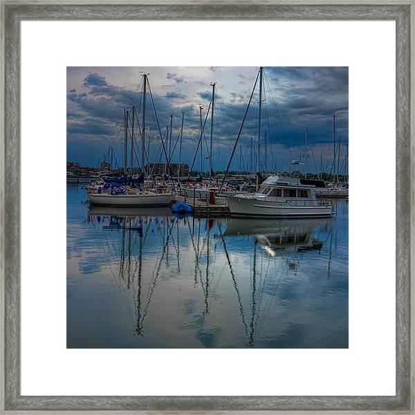 Reefpoint Marina Square Format Framed Print
