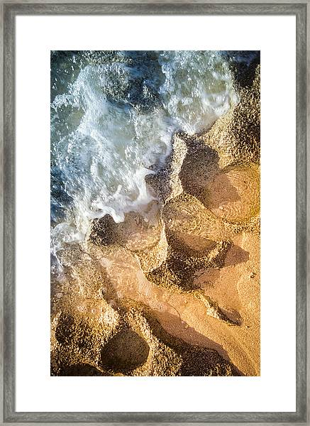Reefy Textures Framed Print
