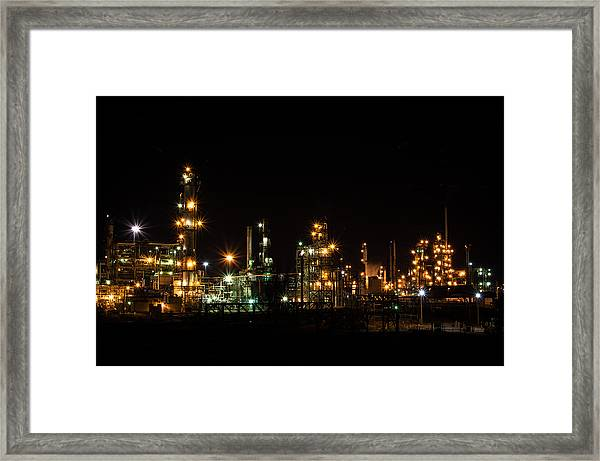 Refinery At Night 2 Framed Print