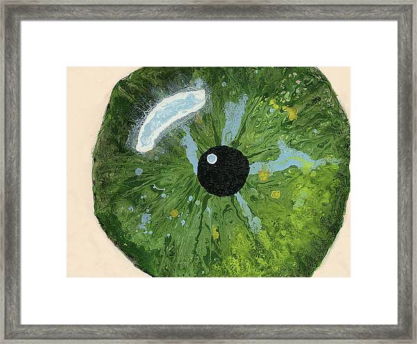 Reflected In The Eye Of A Child Never Born Framed Print