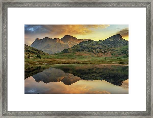 Reflected Peaks Framed Print