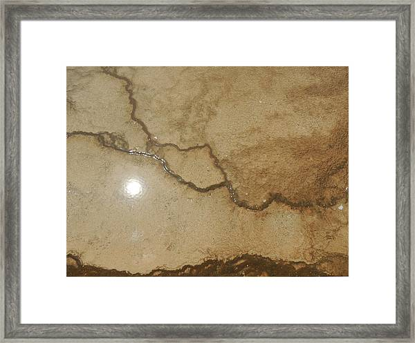 Reflected Sun In Hot Spring Framed Print