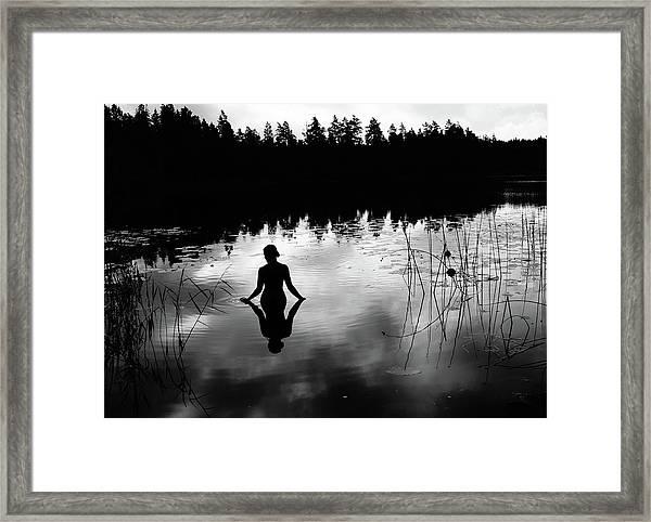 Reflecting Beauty Bow Framed Print