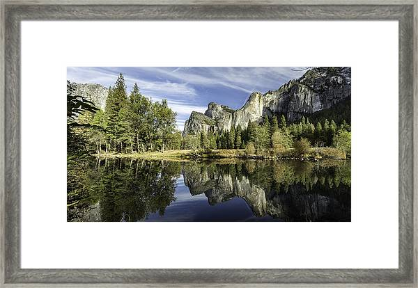 Reflecting On Yosemite Framed Print