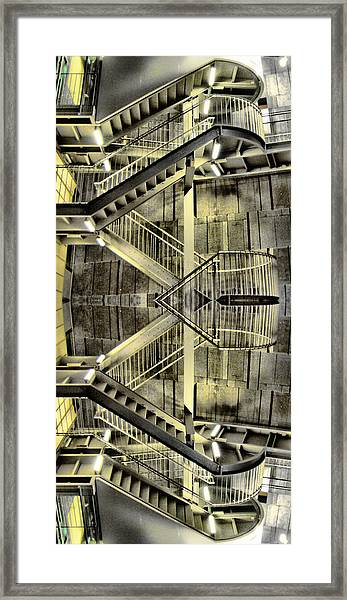 Reflecting Stairs Framed Print