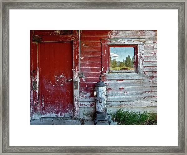 Reflecting The Landscape Framed Print