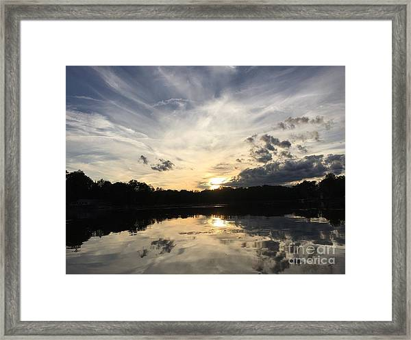 Reflecting Upon The Sky Framed Print