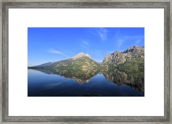Reflection At Grand Teton National Park Framed Print