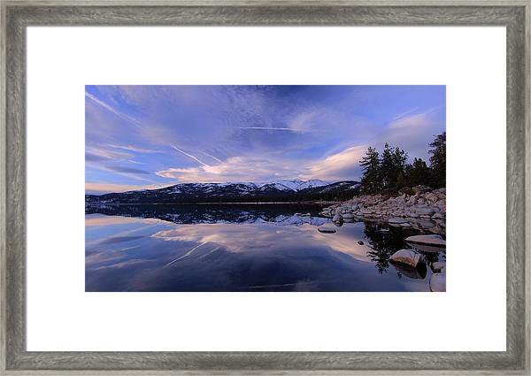 Reflection In Winter Framed Print