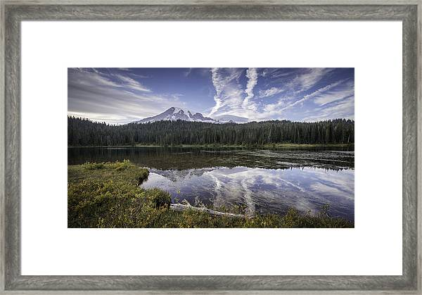 Reflection Lake Framed Print by Michael Donahue