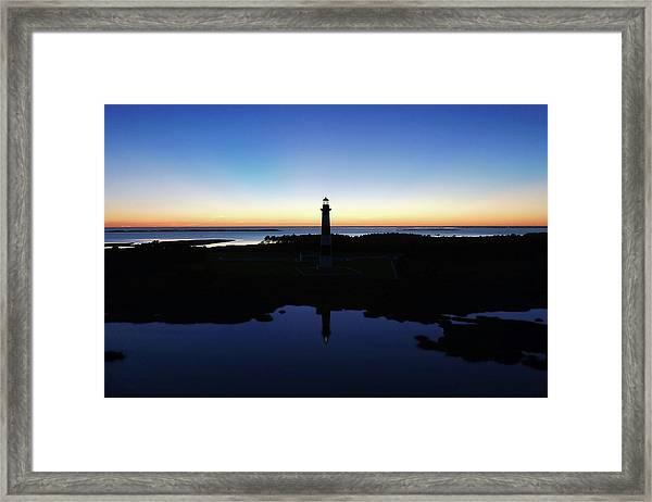 Reflection Of Bodie Light At Sunset Framed Print