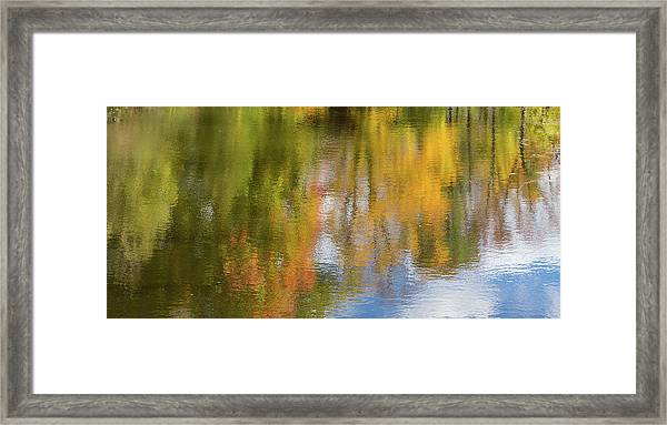 Reflection Of Fall #1, Abstract Framed Print