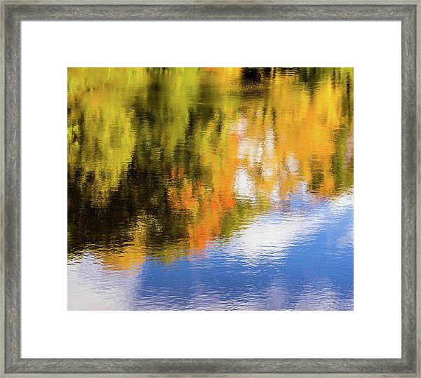 Reflection Of Fall #2, Abstract Framed Print