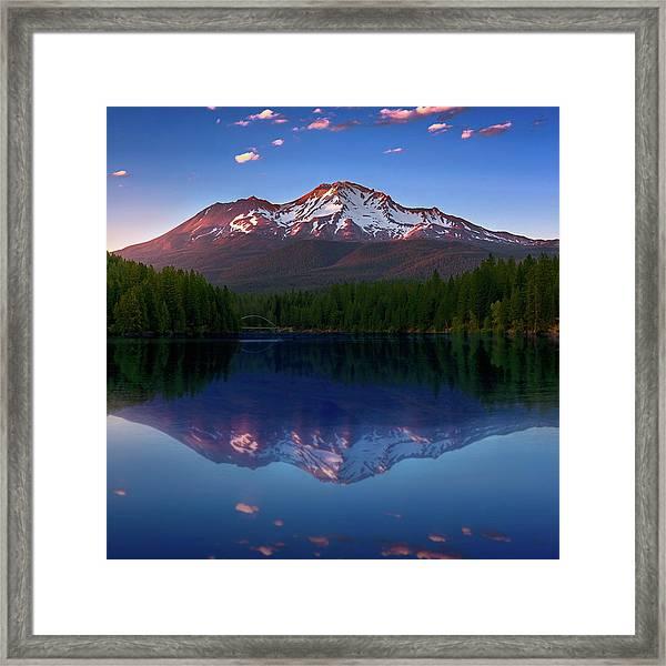 Reflection On California's Lake Siskiyou Framed Print