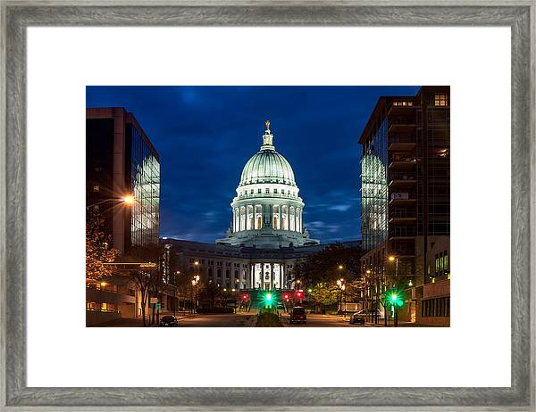 Reflection Surrounded Framed Print