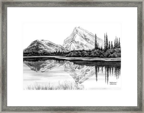 Reflections - Mountain Landscape Print Framed Print