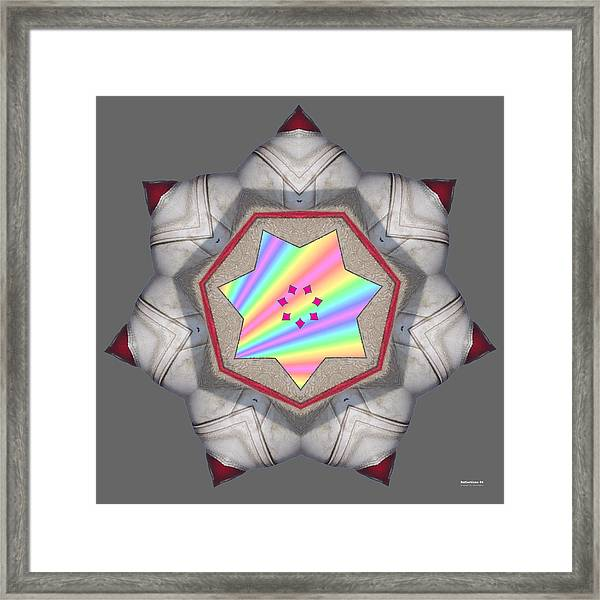 Framed Print featuring the digital art Reflections 54 by Brian Gryphon
