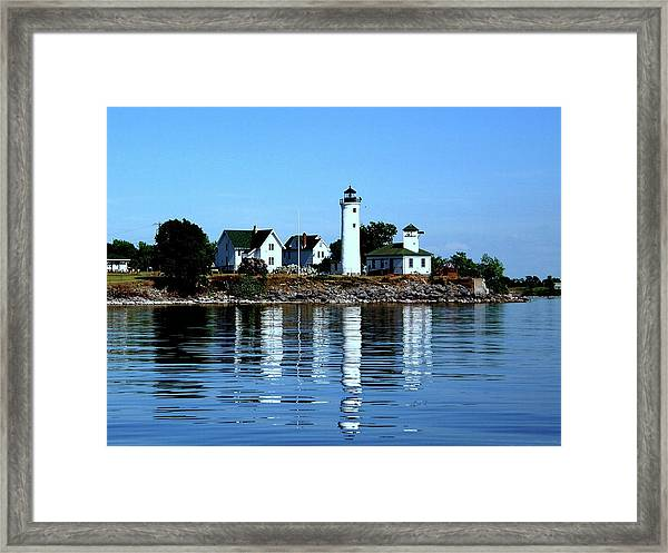 Reflections At Tibbetts Point Lighthouse Framed Print