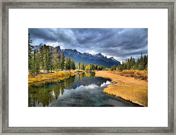 Reflections In Canmore Framed Print