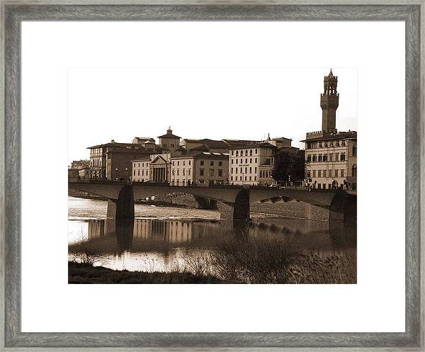 Reflections Of Florence Framed Print