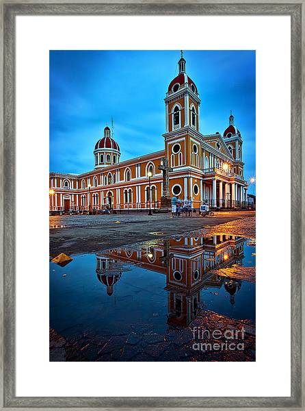 Reflections Of Granada, Nicaragua  Framed Print