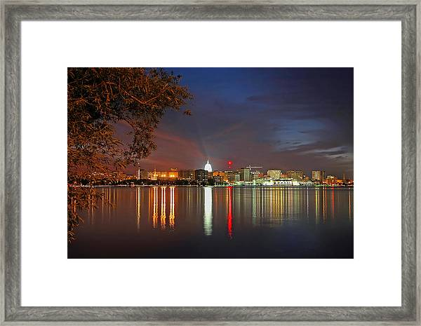 Reflections Of Madison Framed Print