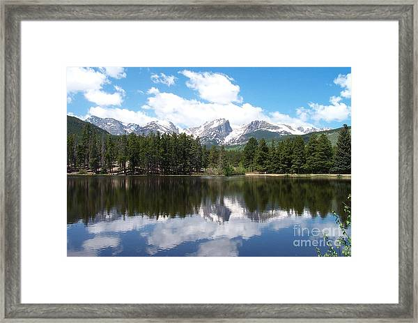 Reflections Of Sprague Lake Framed Print