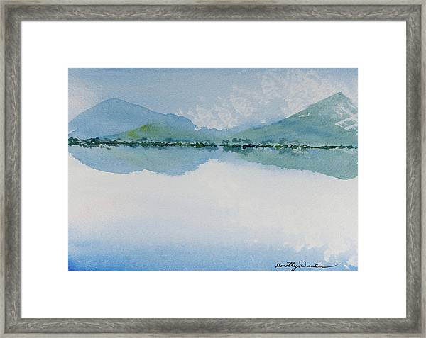 Reflections Of The Skies And Mountains Surrounding Bathurst Harbour Framed Print