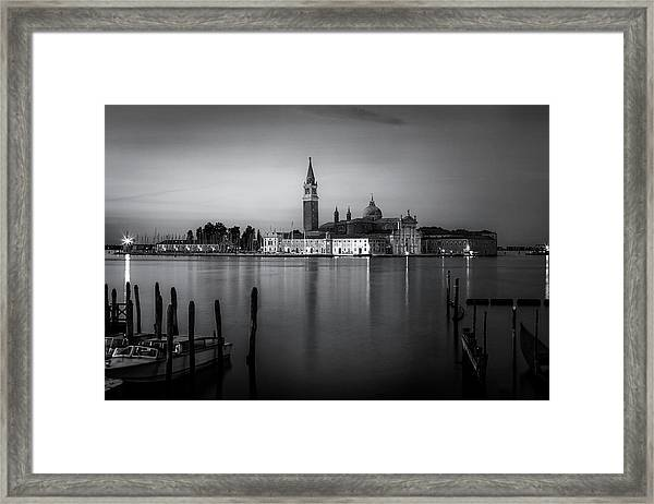 Reflections Of Venice Framed Print by Andrew Soundarajan