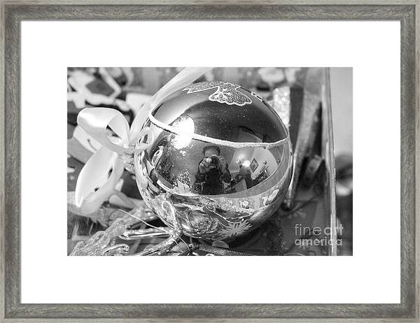 Reflections On A Self Portrait Framed Print