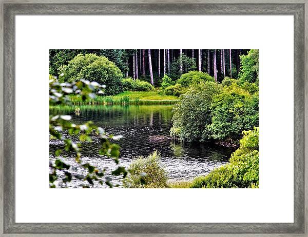 Reflections On Kielder Water Framed Print