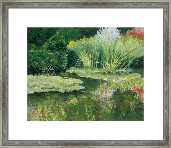 Reflections On Monets Lily Pond Framed Print