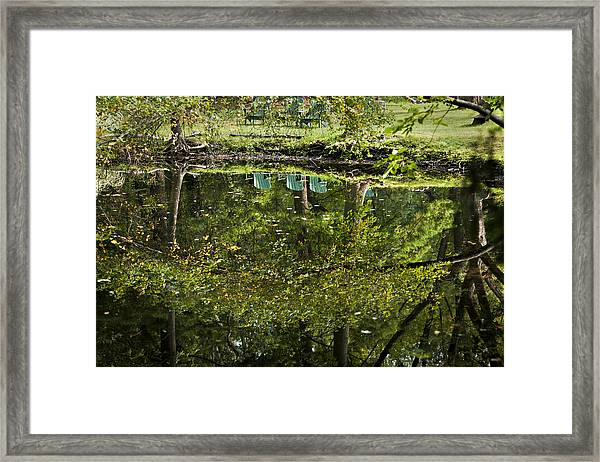 Reflections On Sitting Framed Print