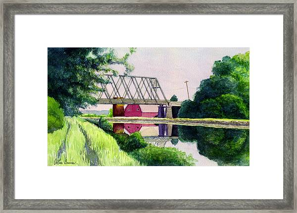 Reflections On The Erie Canal Framed Print