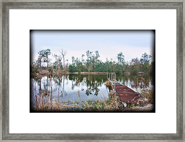Reflections On The Lake Framed Print by Bill Perry