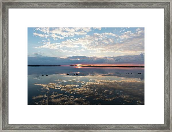 Reflections Over Back Bay Framed Print