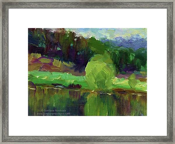 Reflections Painting Study By Svetlana Framed Print
