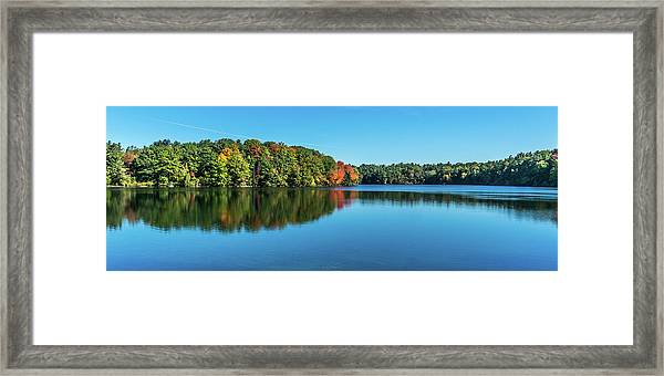 Reflections Pano Framed Print