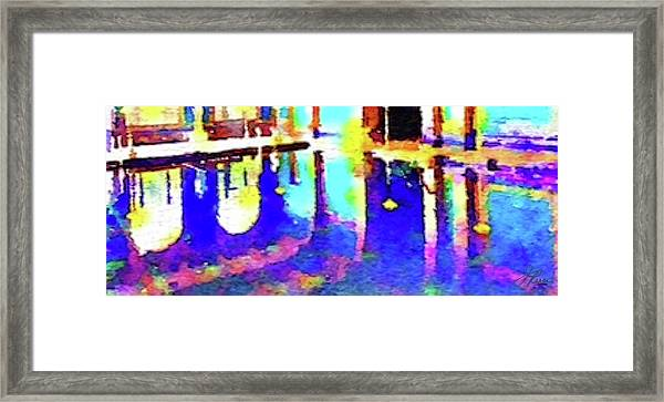 Reflective Pool Hearst Castle Framed Print