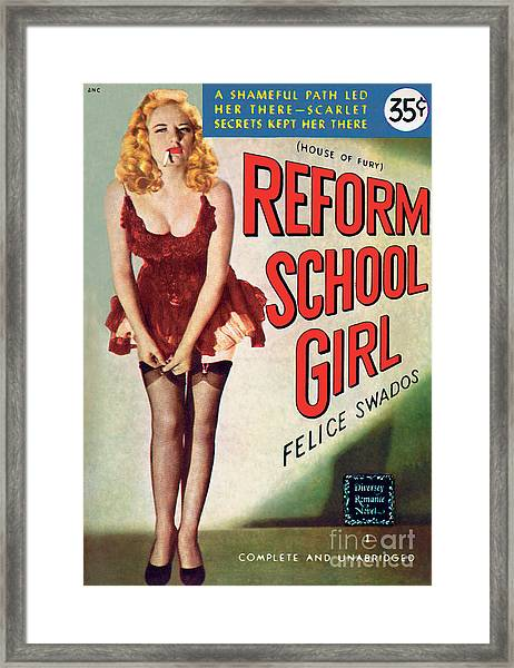 Reform School Girl Framed Print