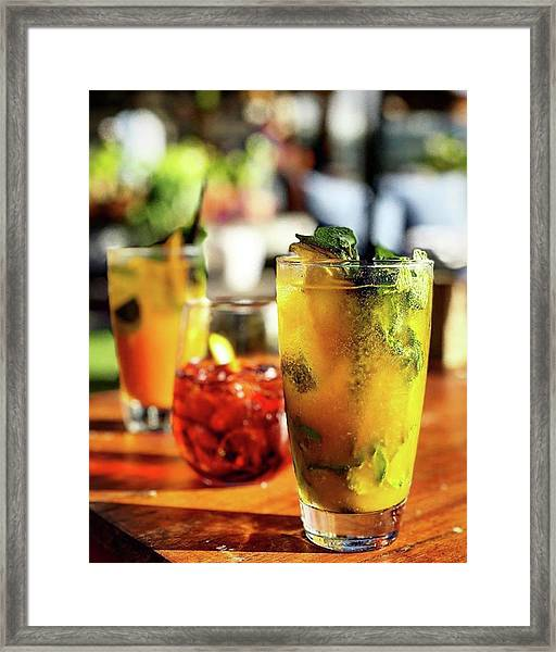 Refreshment 🍹 Framed Print by Arya Swadharma