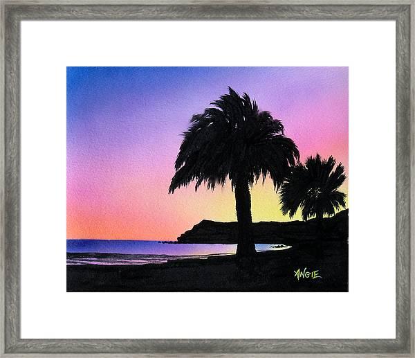 Refugio Point 1 Framed Print