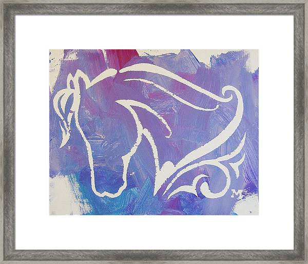 Framed Print featuring the painting Regal Horse by Candace Shrope