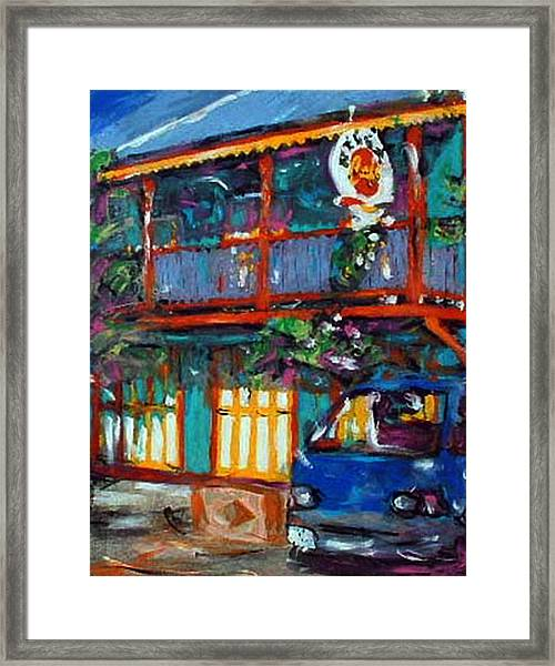 Reggae Cafe Framed Print