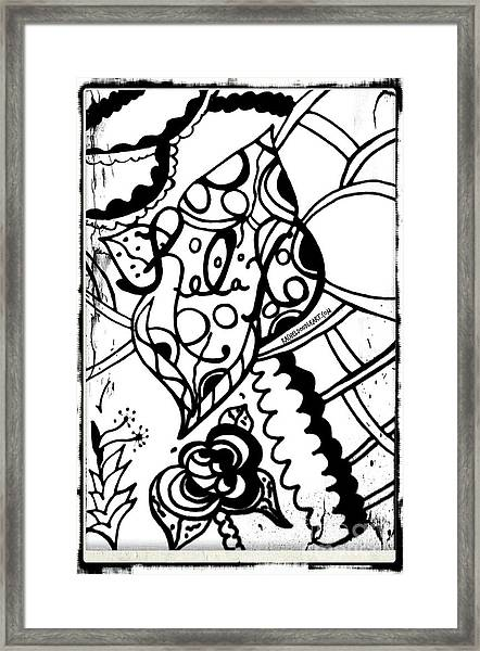 Framed Print featuring the drawing Relax by Rachel Maynard