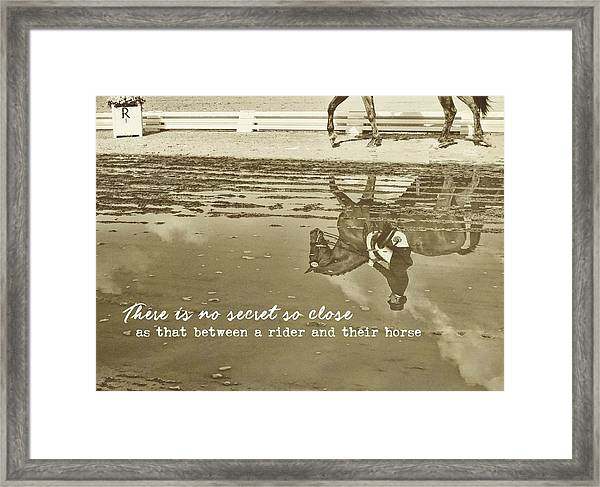 Relaxation Reflection Quote Framed Print