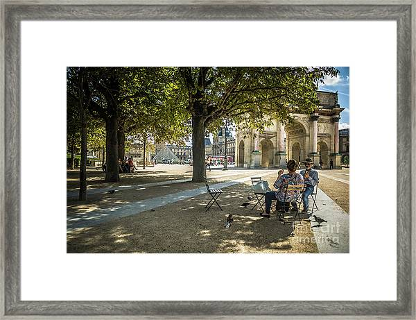 Relaxing Afternoon In Paris Framed Print